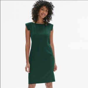 MM.LAFLEUR teal sheath dress size 0